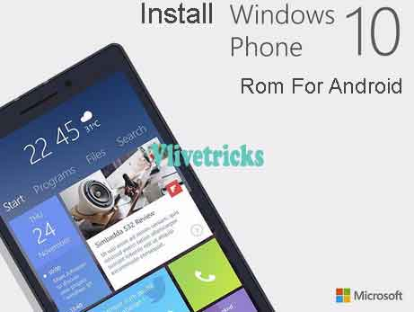 install windows 10 rom