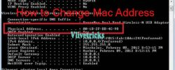 How to Change Mac Address (Network) in Windows via CMD