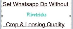 Set Whatsapp Profile Dp Full Size Picture Without Crop & Loosing Quality