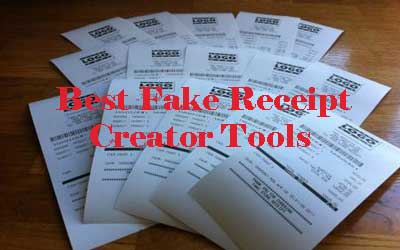 Best Fake Receipt generator Tools