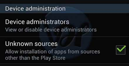 unknown sources app installation