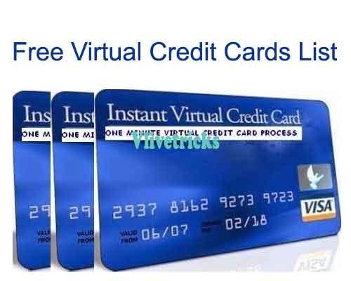 free-virtual-credit-card