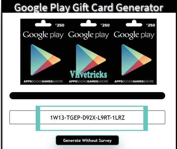 free google play code generator no survey