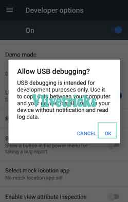 usb debugging enable confirm
