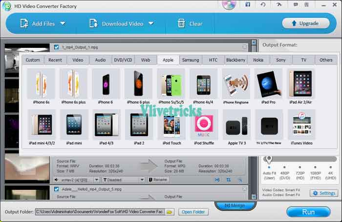 WonderFox HD Video Converter Factory Pro formats