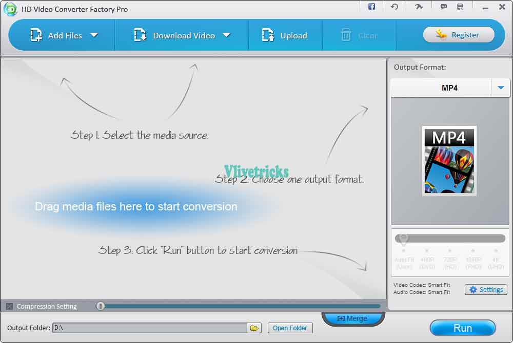 WonderFox HD Video Converter Factory Pro add files