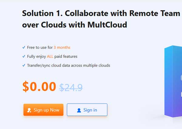 multcloud sign up for premium free trial