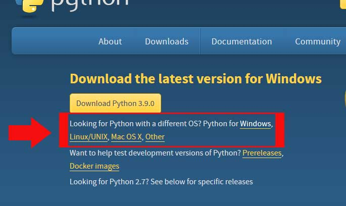 python downloads official website