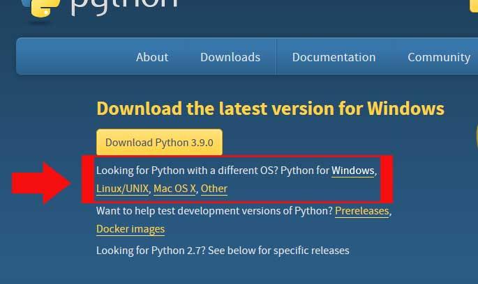 python downloads official website