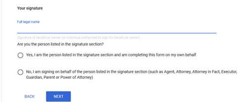 signature name enter